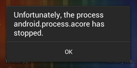 How to Fix: Unfortunately, the process android.process.acore has stopped
